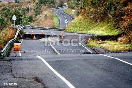 highway destroyed by hurricane
