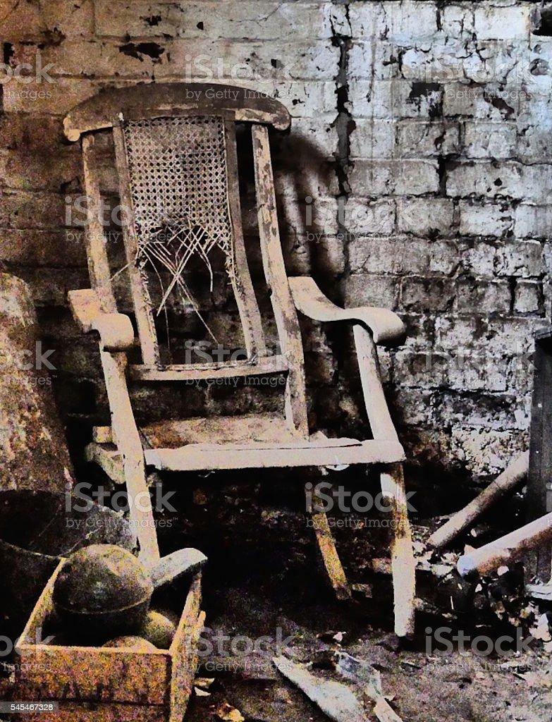Broken Rocking Chair Royalty Free Stock Photo