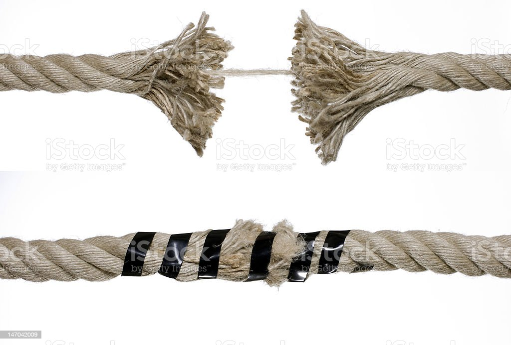broken rope royalty-free stock photo