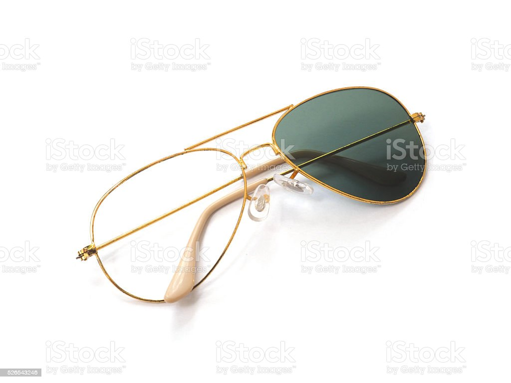Broken rust sunglasses stock photo
