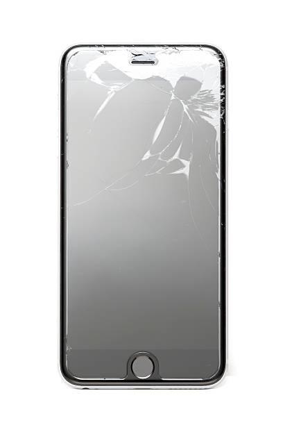 Broken Screen on iPhone 6 Plus stock photo