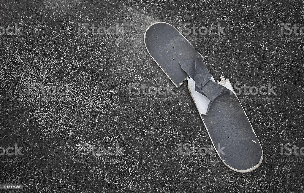 Broken sk8board stock photo