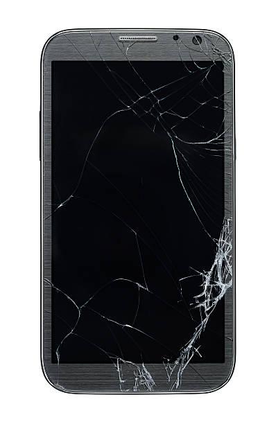 Broken smart phone stock photo