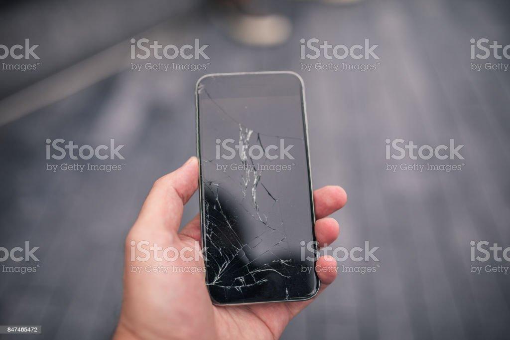 Gebroken slimme telefoon foto