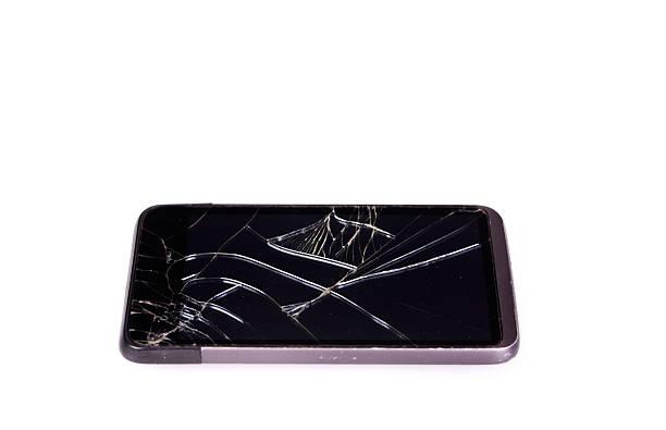 Broken Smart Phone Screen stock photo