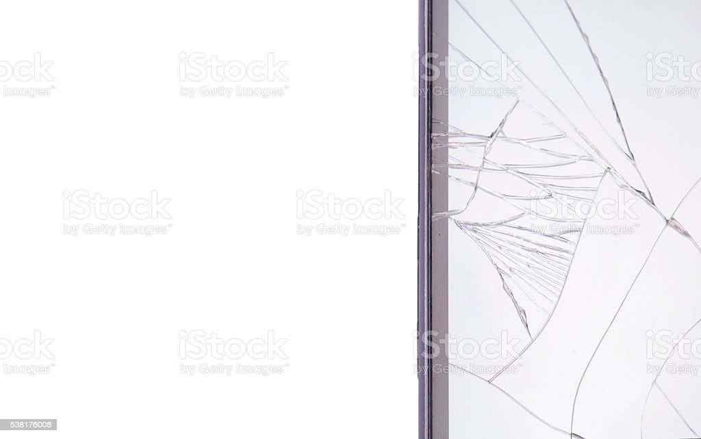Broken Smart Phone Screen stock photo