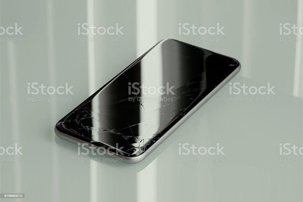 Broken Smartphone royalty-free stock photo