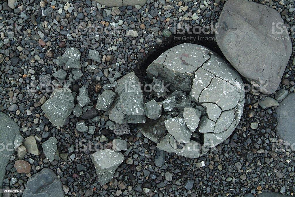 Broken stones in a Icelandic background stock photo