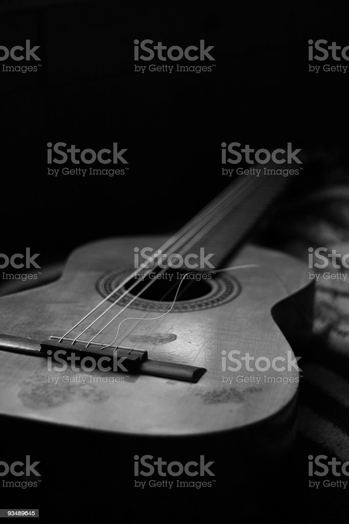 Broken String Guitar stock photo