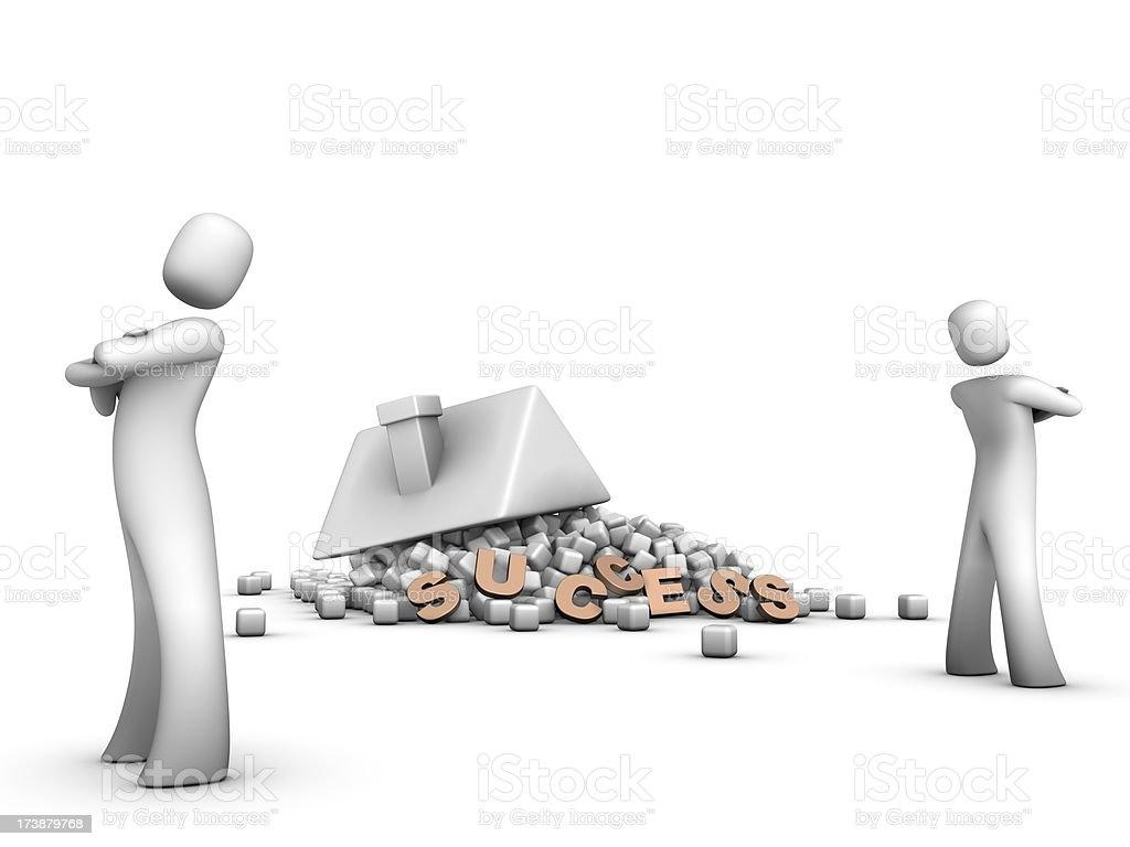 Broken Success House royalty-free stock photo