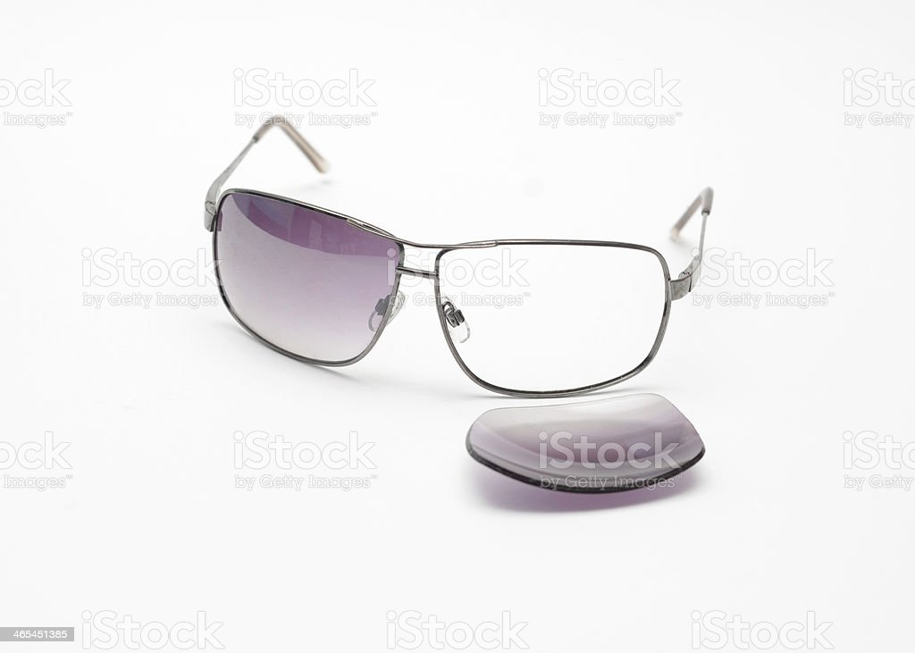 Broken Sunglasses stock photo