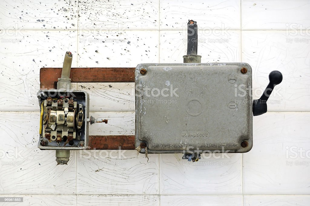 broken switch royalty-free stock photo