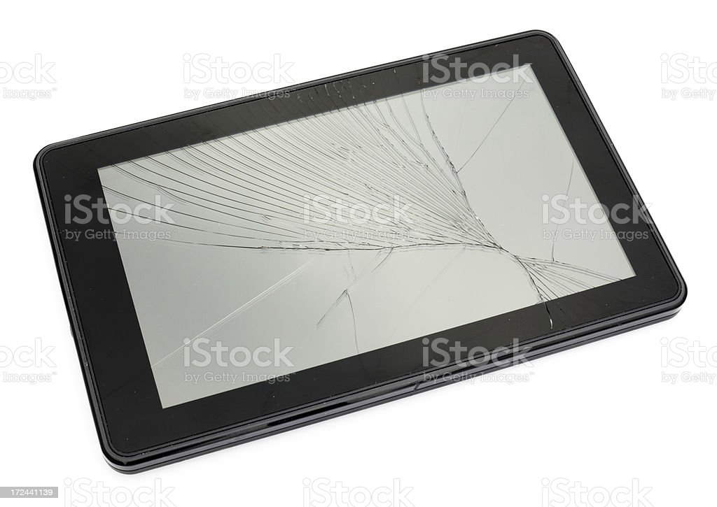 Broken Tablet royalty-free stock photo