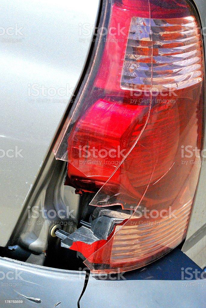 Broken taillight. stock photo