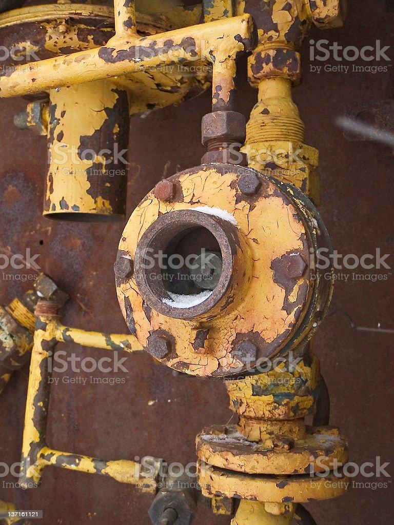 Сломанный Нажмите Close-up стоковое фото