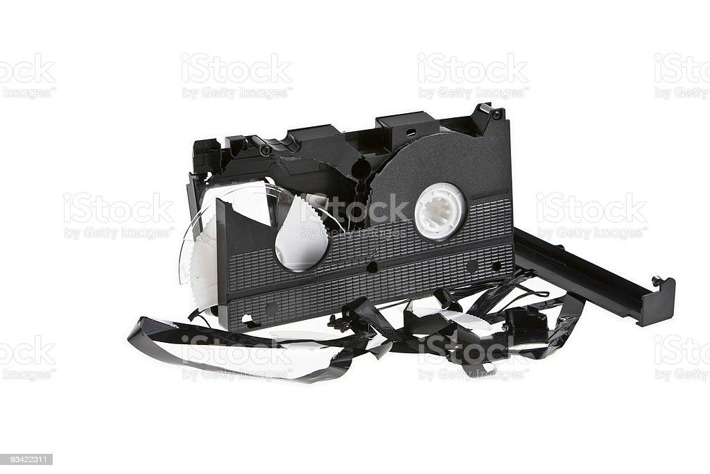 broken tape royalty-free stock photo