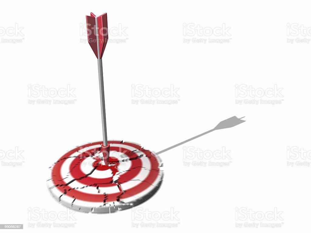 broken target royalty-free stock photo