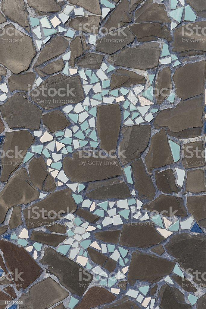 Broken Tile Mosaic royalty-free stock photo