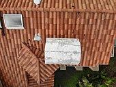 Roof in disrepair.