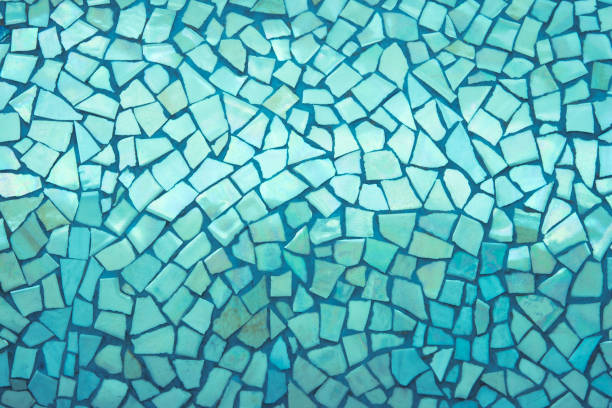 Broken tiles mosaic seamless pattern. Broken tiles mosaic seamless pattern. Green tile real wall high resolution real photo or brick seamless with texture interior background. Abstract wallpaper irregular in bathroom. mosaic stock pictures, royalty-free photos & images