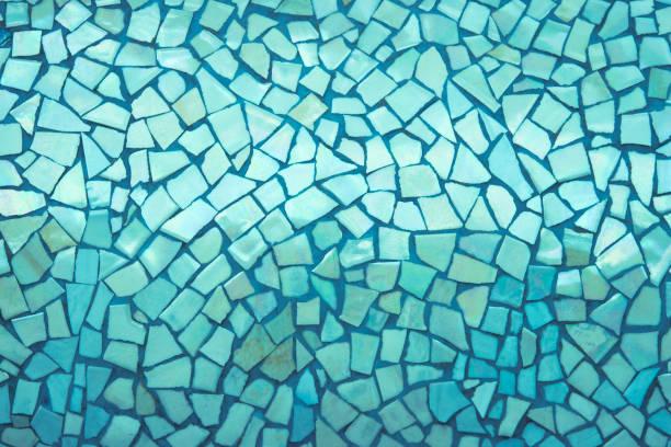 tuiles brisées mosaïque transparente motif. - mosaïque photos et images de collection