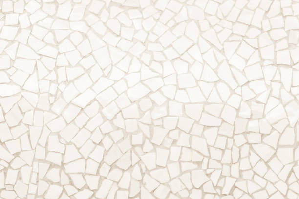 Broken tiles mosaic seamless pattern. Broken tiles mosaic seamless pattern. Cream tile real wall high resolution real photo or brick seamless with texture interior background. Abstract wallpaper irregular in bathroom. mosaic stock pictures, royalty-free photos & images