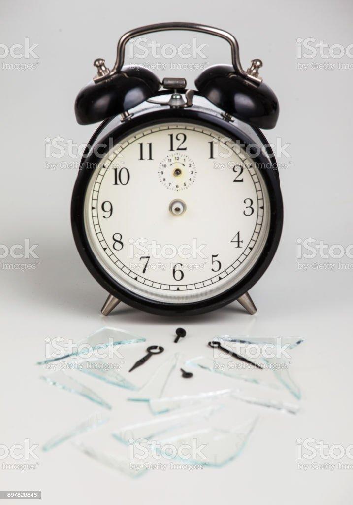 Broken time stock photo