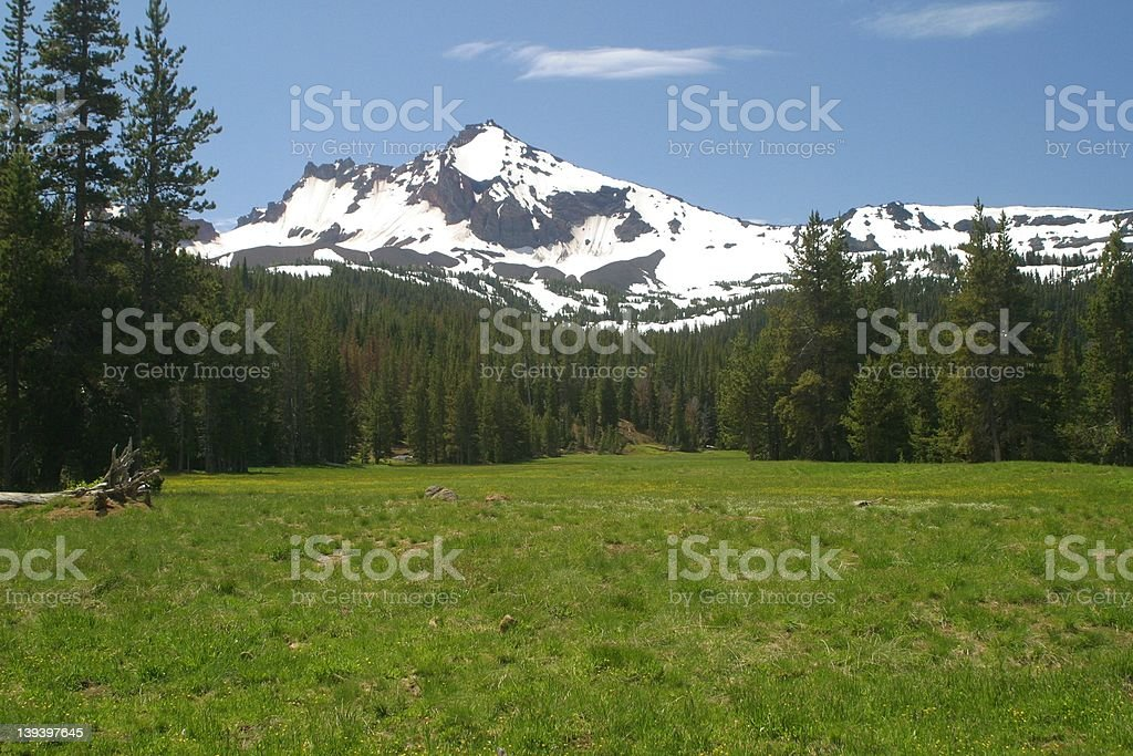 Broken top Mountain royalty-free stock photo