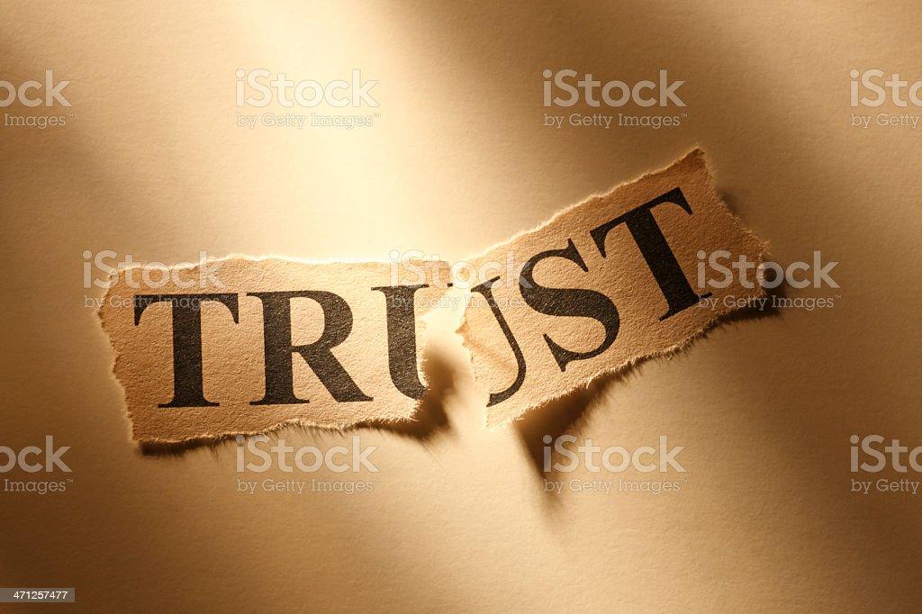 Broken Trust stock photo