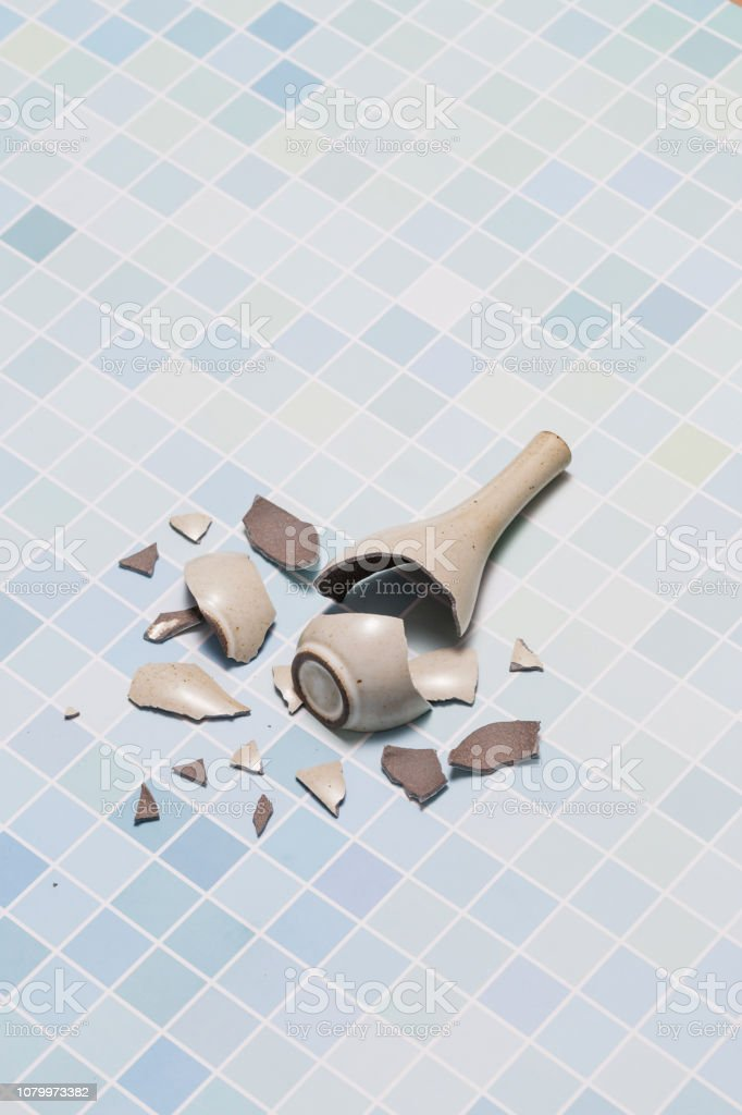 Broken vase stock photo