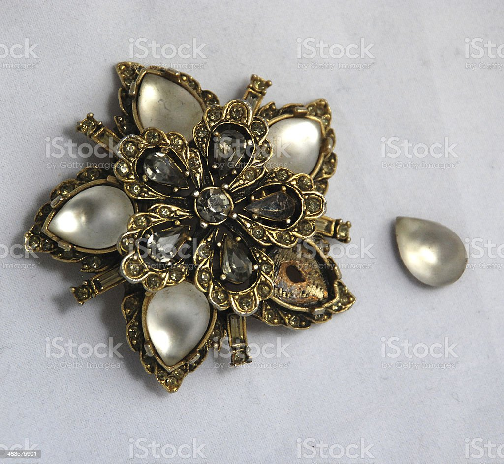 seed garnet henry vintage blank nouveau pearl brooch antique lang and antiques brooches art pins by jewelry moonstone
