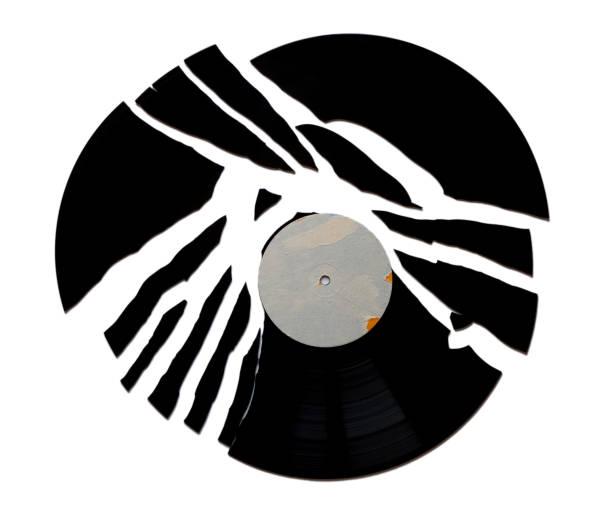 gebrochene Vinyl-Platte – Foto