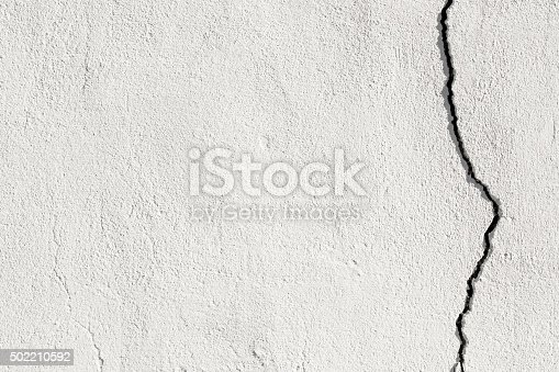 White broken grunge wall.