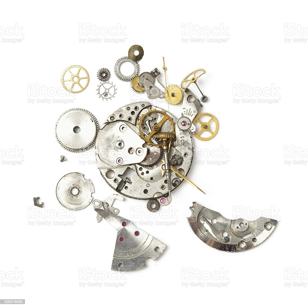 Broken watch stock photo