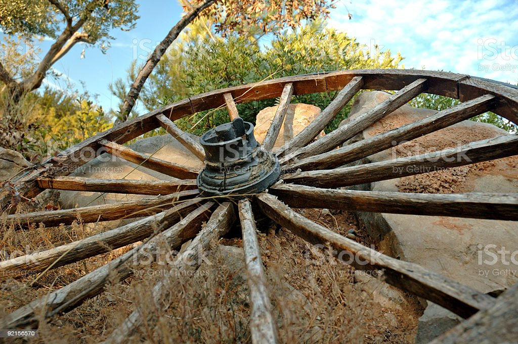 Broken wheel royalty-free stock photo