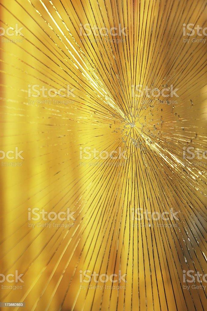 Broken Window Cracked Glass Vandalism royalty-free stock photo