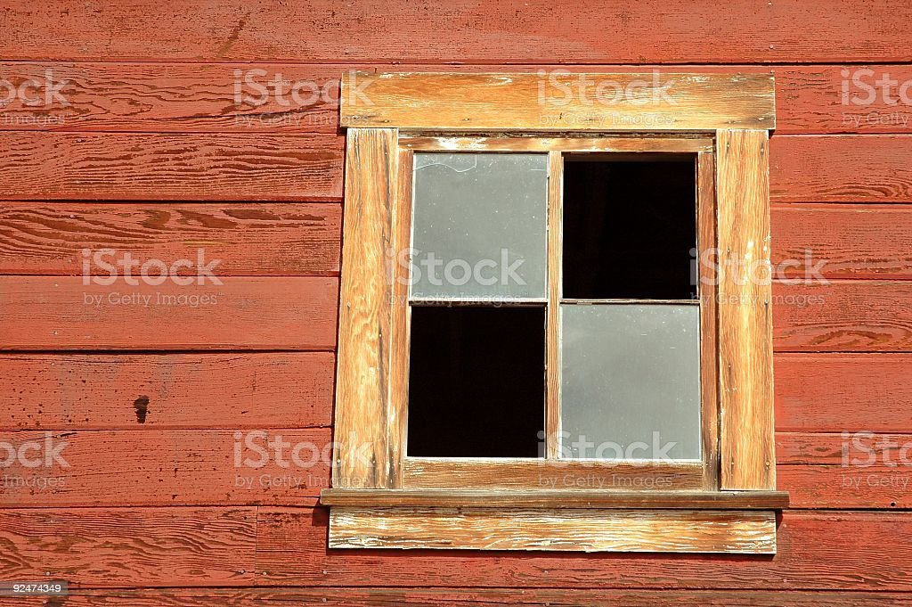 Broken Window  Pane royalty-free stock photo