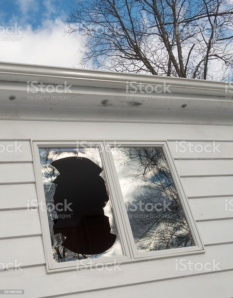 broken window_2 stock photo