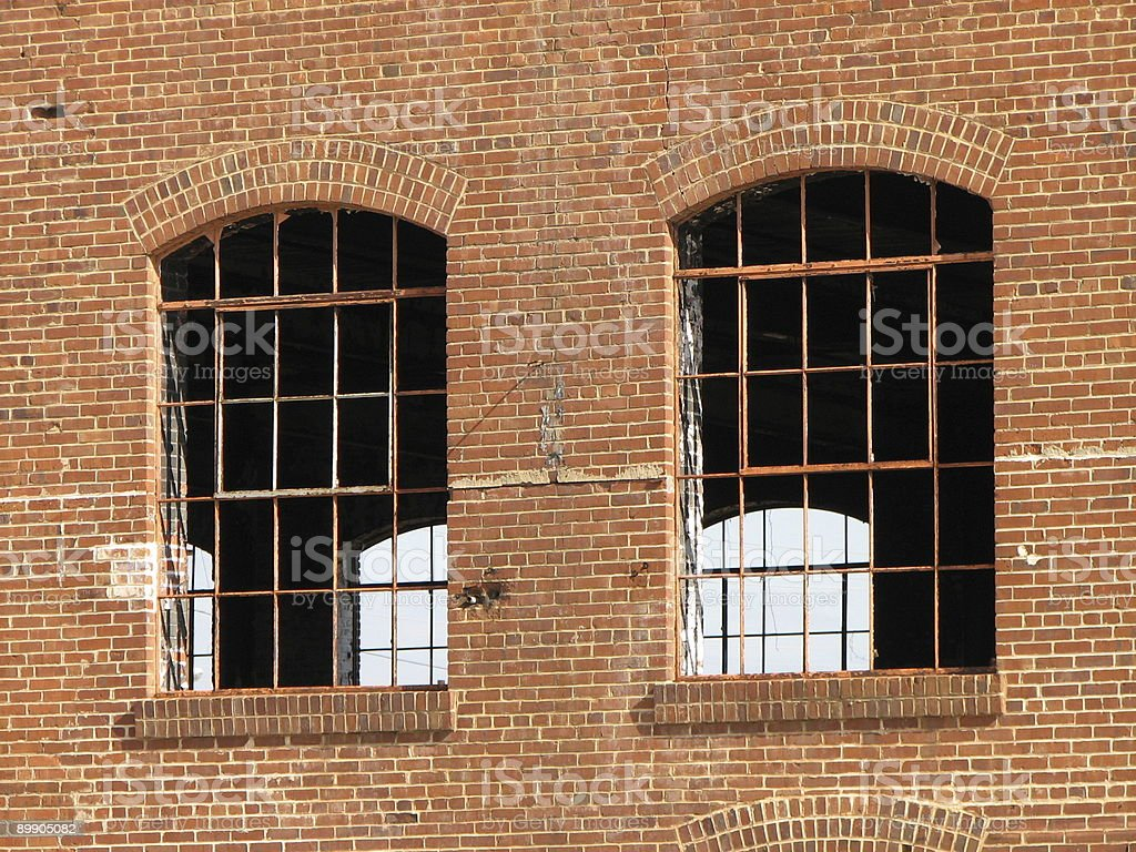 Broken Windows royalty-free stock photo