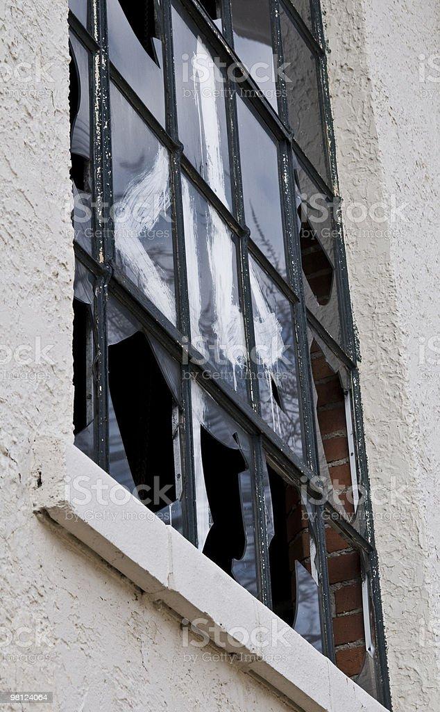 Broken WIndows royalty-free stock photo
