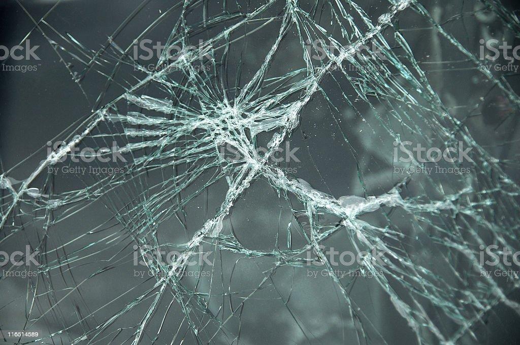 Broken windshield royalty-free stock photo