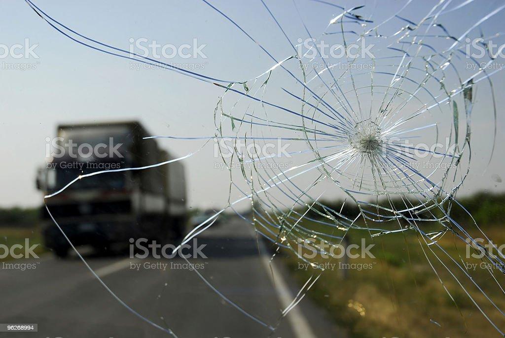 Broken Windschutzscheibe – Foto