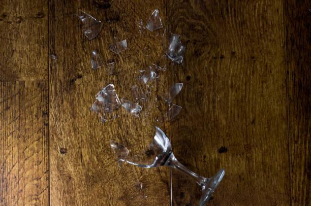 Broken Wine Glass 2 stock photo