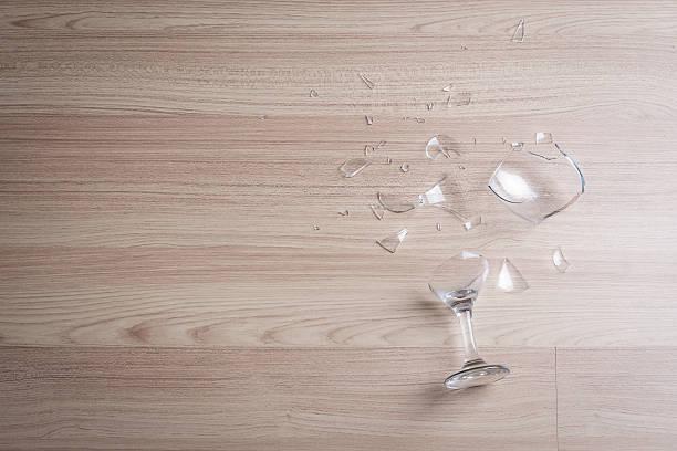 broken wine glass stock photo