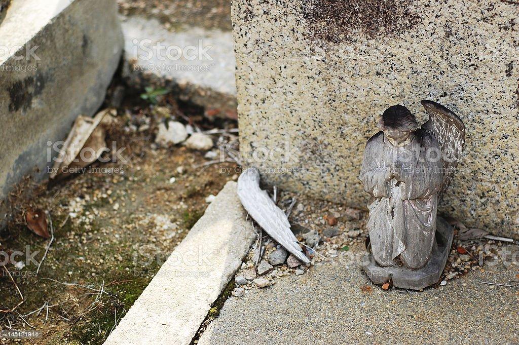 Broken wing angel stock photo