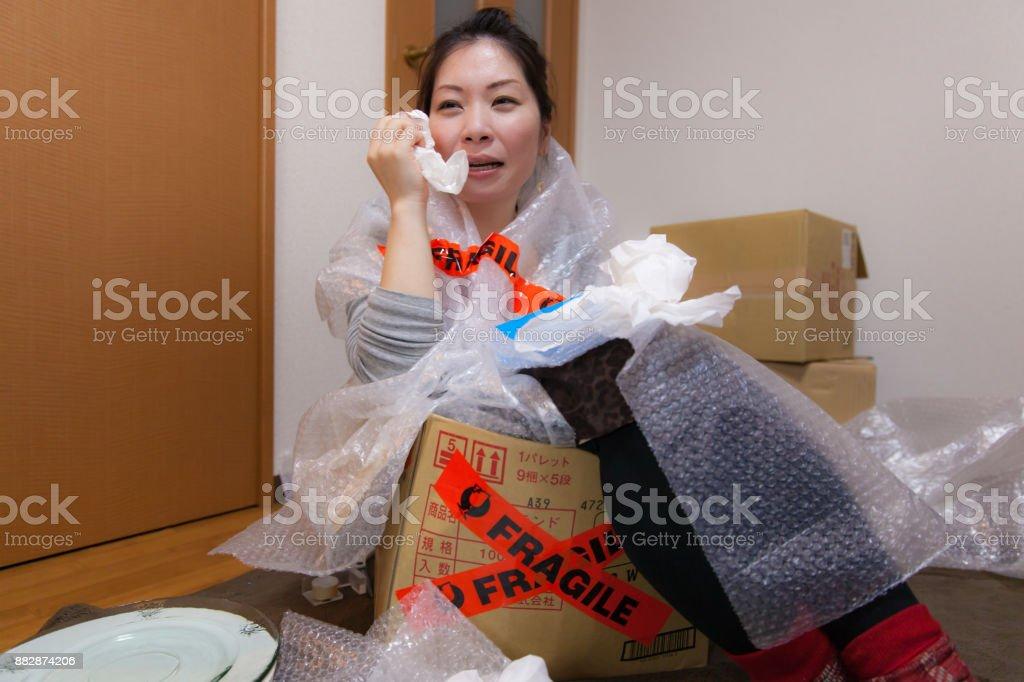 Broken woman stock photo