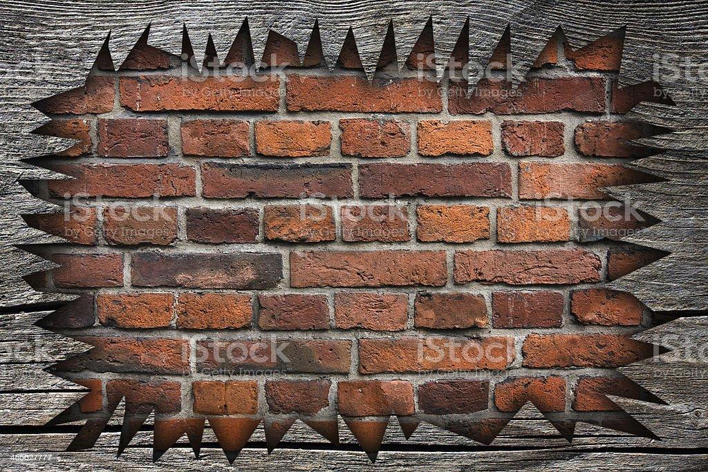 broken wood board royalty-free stock photo