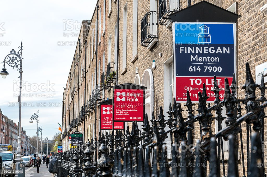 Brokerage signs for sale, apartments and offices. royalty-free stock photo