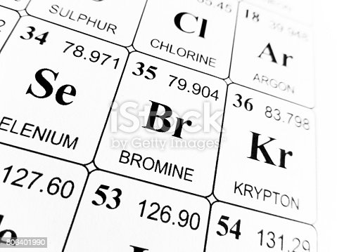 Bromine On The Periodic Table Of The Elements Stock Photo Istock