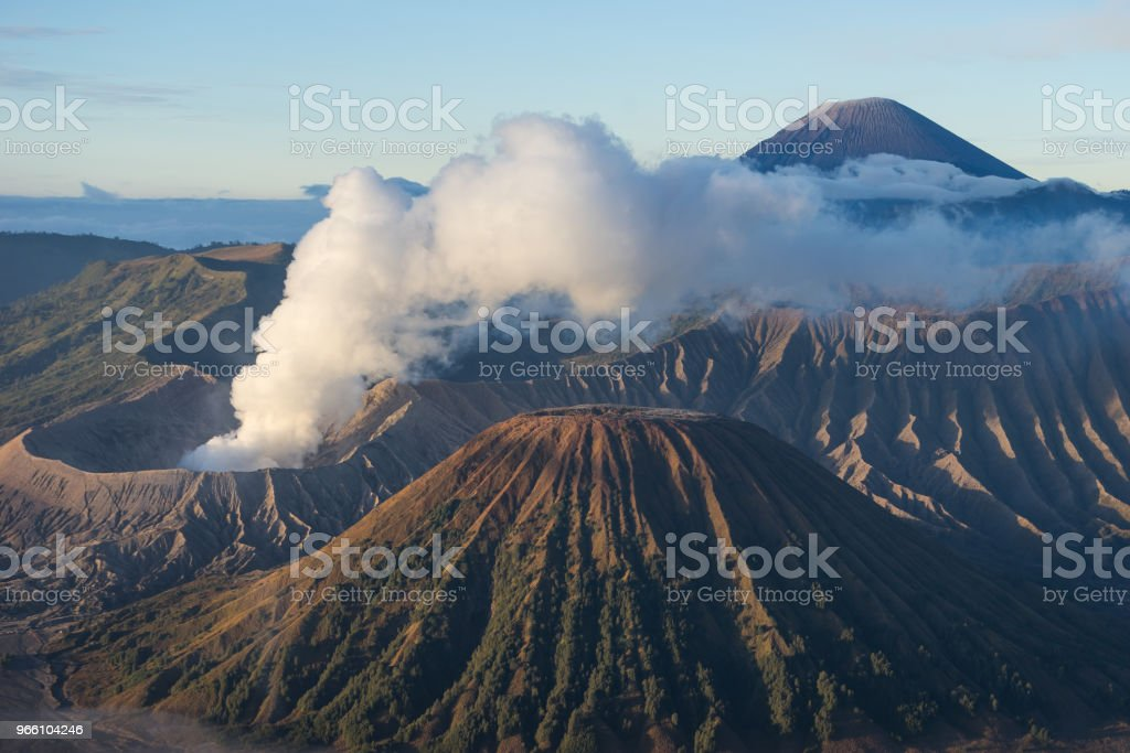Bromo active volcano mountain in a morning, East Java, Indonesia - Royalty-free Adventure Stock Photo